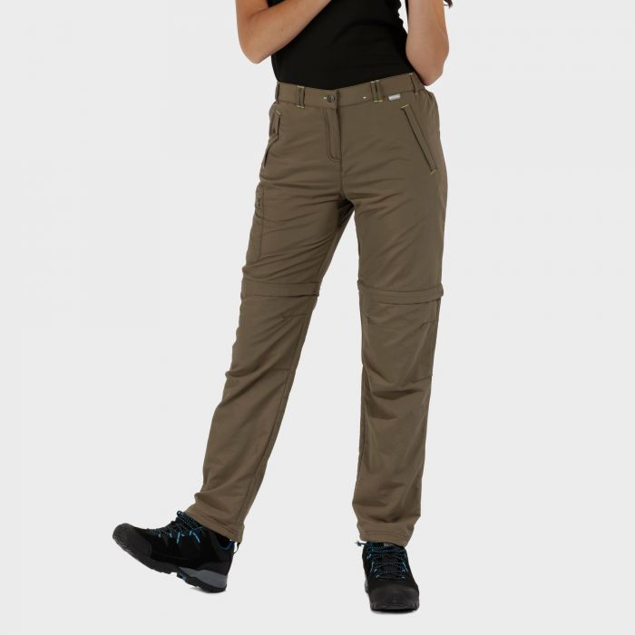 Chaska Zip Off Trousers Green