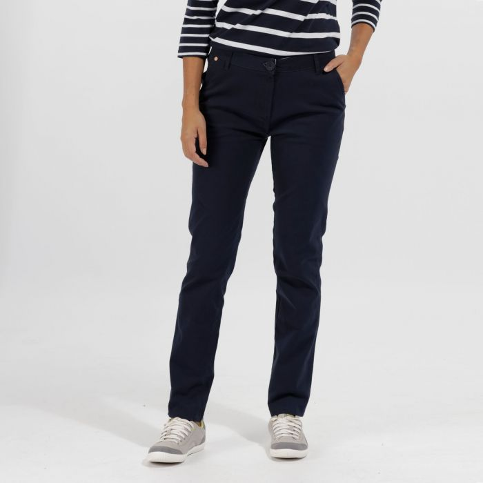 Querina Coolweave Chino Trousers Navy