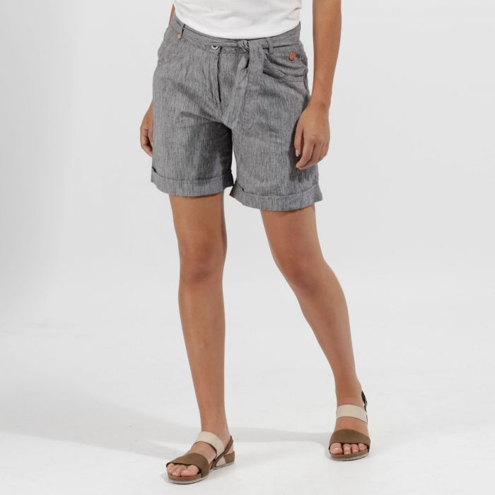 Samarah Coolweave Cotton Shorts Navy
