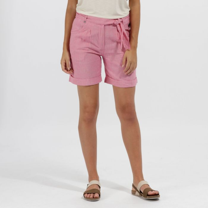 Samarah Coolweave Cotton Shorts Short Hot Pink