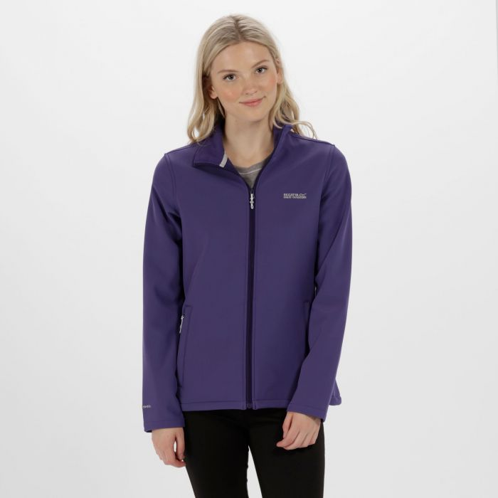Connie III Funnell Neck Softshell Jacket Elderberry