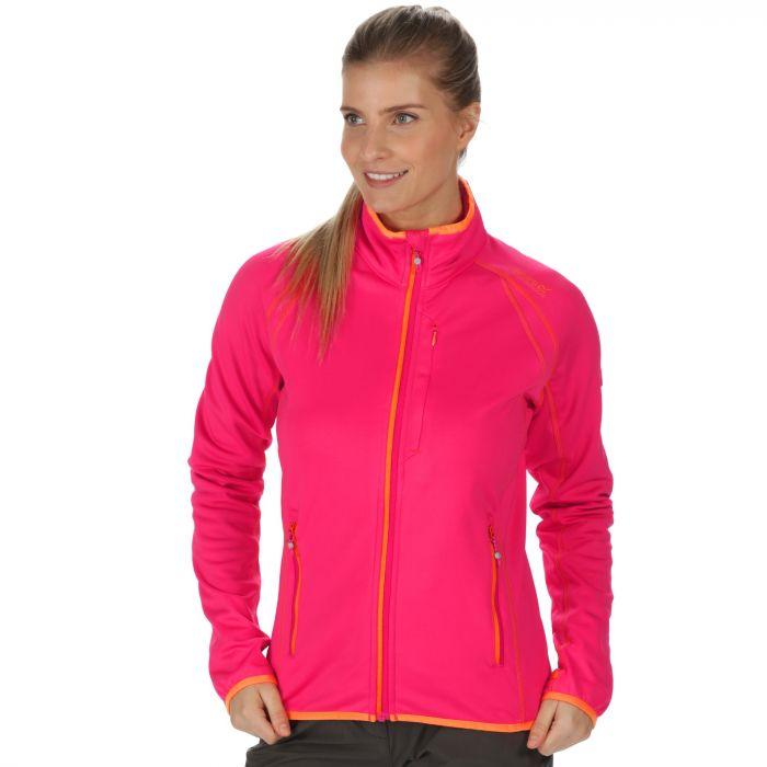 Abney III Warm Backed Softshell Jacket with Stretch Binding Bright Blush