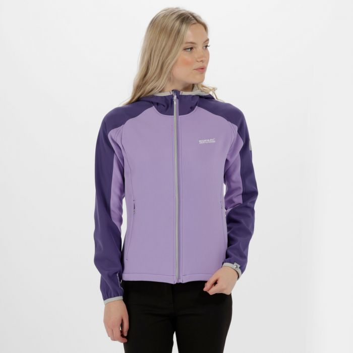 Women's Arec II Hooded Stretch Softshell Jacket Paisly Light Steel