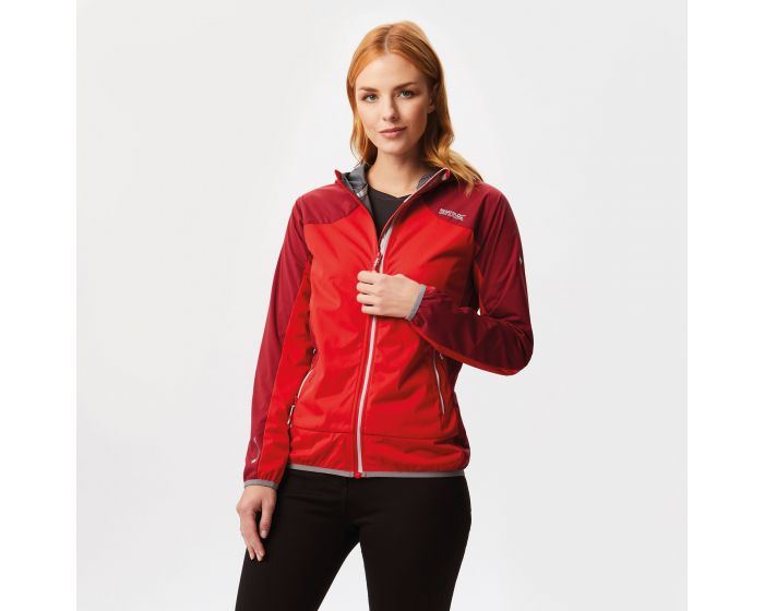 Womens Tarvos Softshell Jacket Red Alert Tibetan Red