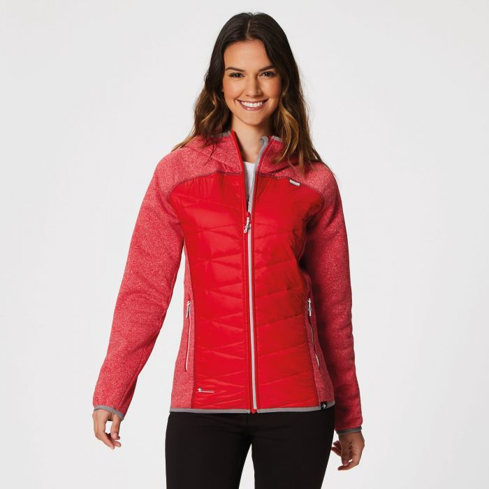 Women's Andreson III Hybrid Stretch Lightweight Insulated Jacket Red Alert