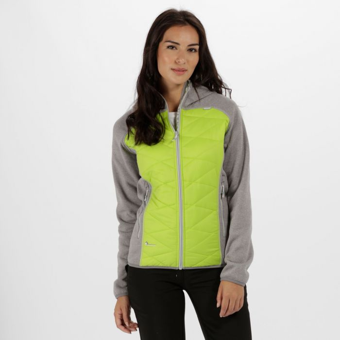Women's Andreson III Hybrid Stretch Lightweight Insulated Jacket Rock Grey Lime Zest