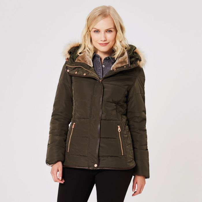 Winika Insulated Jacket Dark Khaki