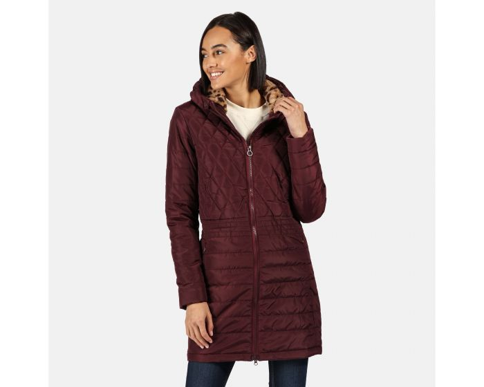 Regatta Womens Parmenia Insulated Quilted Lined Jacket With Fold Down Hood