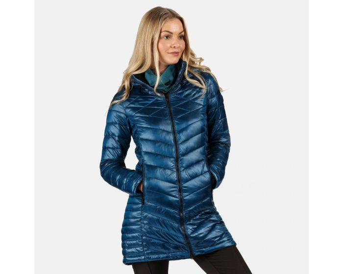 Women's Andell II Lightweight Insulated Quilted Hooded Parka Walking Jacket  Blue Opal   Regatta - Great Outdoors