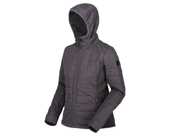 Women's Winsbury Lightweight Insulated Quilted Hooded Walking Jacket Ash