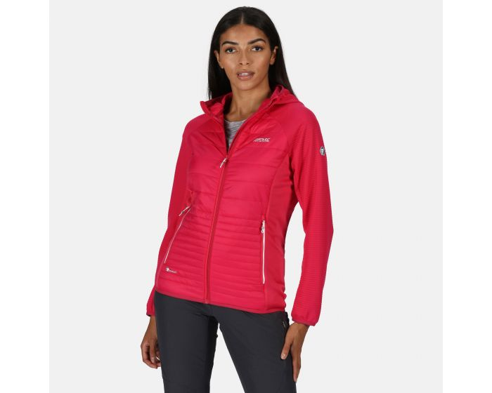 Regatta Womens Womens Andreson V Stretch Side Panels Insulated Easily Compressible Lightweight Hooded Softshell Jacket Jacket