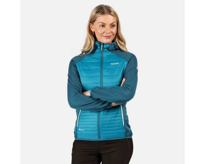 Regatta Womens Andreson V Stretch Side Panels Insulated Easily Compressible Lightweight Hooded Softshell Jacket