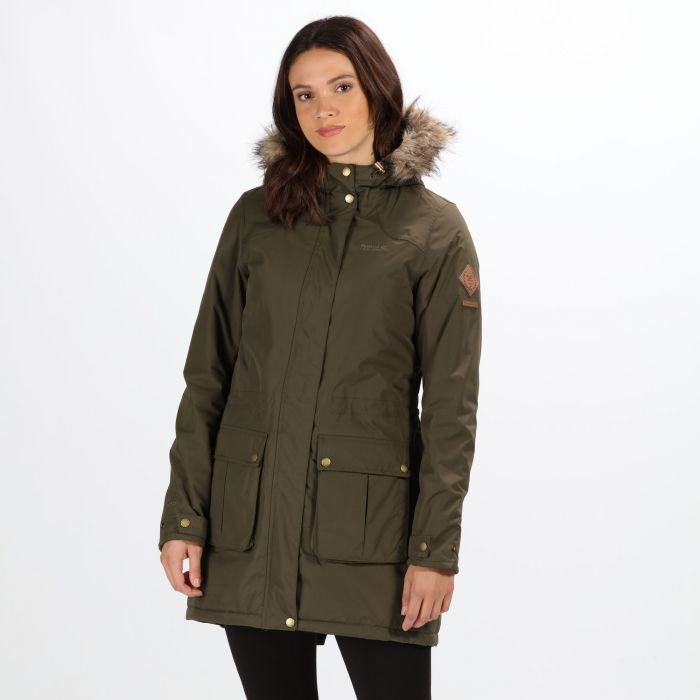 00eab4b10739 Schima II Breathable Waterproof Insulated Parka Jacket with Faux Fur ...