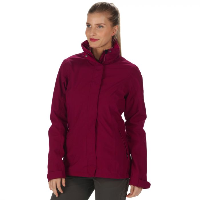 Calyn Stretch Waterproof 3-in-1 Jacket Dark Pimento Rose Blush