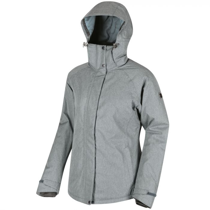 Women's Highside II Breathable Waterproof and Textured Insulated Jacket Light Grey