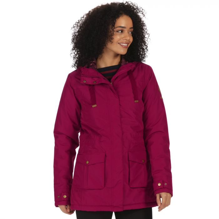 Beatriz Waterproof Insulated Jacket with Hood Dark Pimento