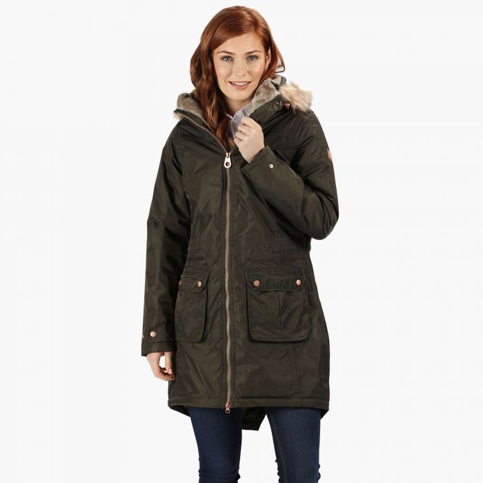 c8500eec6e1 Women's Lucasta Waterproof Insulated Parka Jacket Dark Khaki. RWP257_41C 1