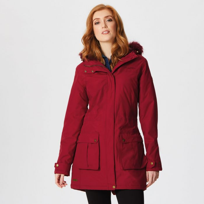 Sherlyn Waterproof Insulated Jacket Rumba Red
