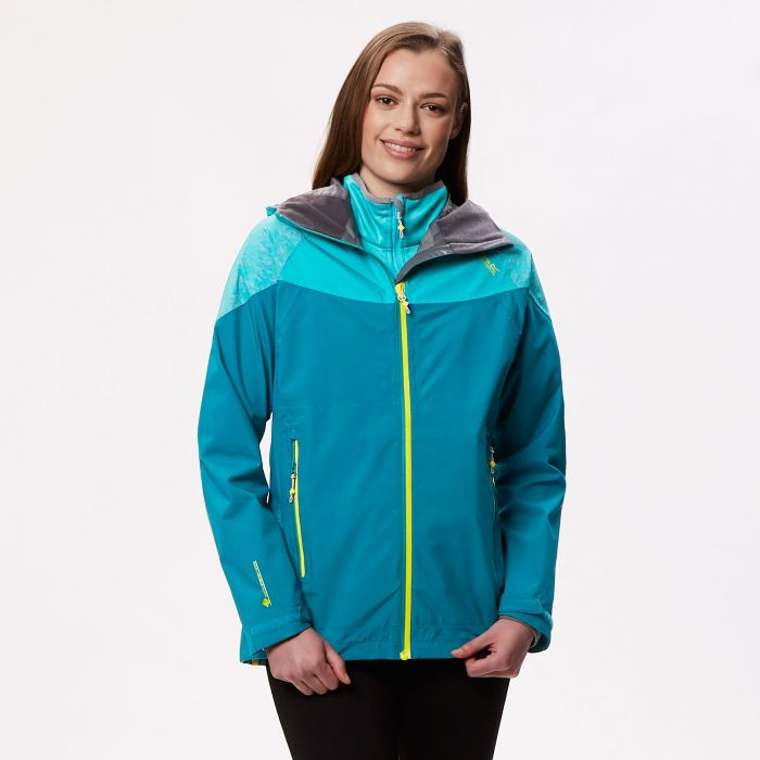 Carletta III Waterproof 3 in 1 Jacket Deep Lake Atlantis Reflective