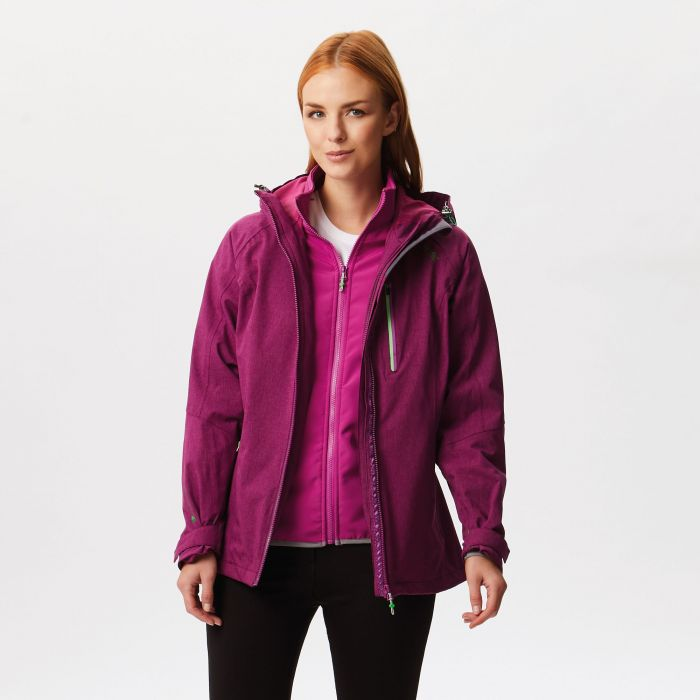 Louisiana IV Waterproof 3 in 1 Jacket Winberry Vivid Viola