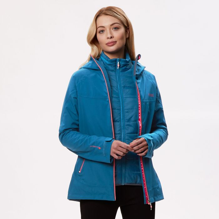 Women's Wentwood III Waterproof 3 in 1 Jacket Moroccan Blue