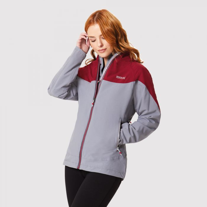 Women's Wentwood III Waterproof 3 in 1 Jacket Rock Grey Tibetan Red