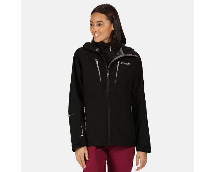 Womens Carletta V 3 In 1 Waterproof Hooded Walking Jacket Black