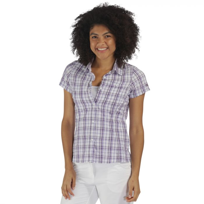 Jenna Shirt Paisly Purple