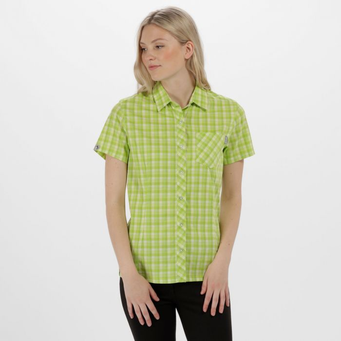 Women's Honshu II Checked Shirt Lime Fizz