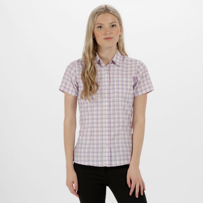 Women's Mindano III Checked Shirt Paisly Purple