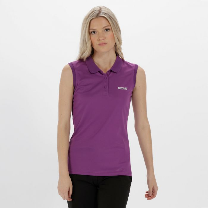 Tima Ribbed Collar T-Shirt Ultra Purple