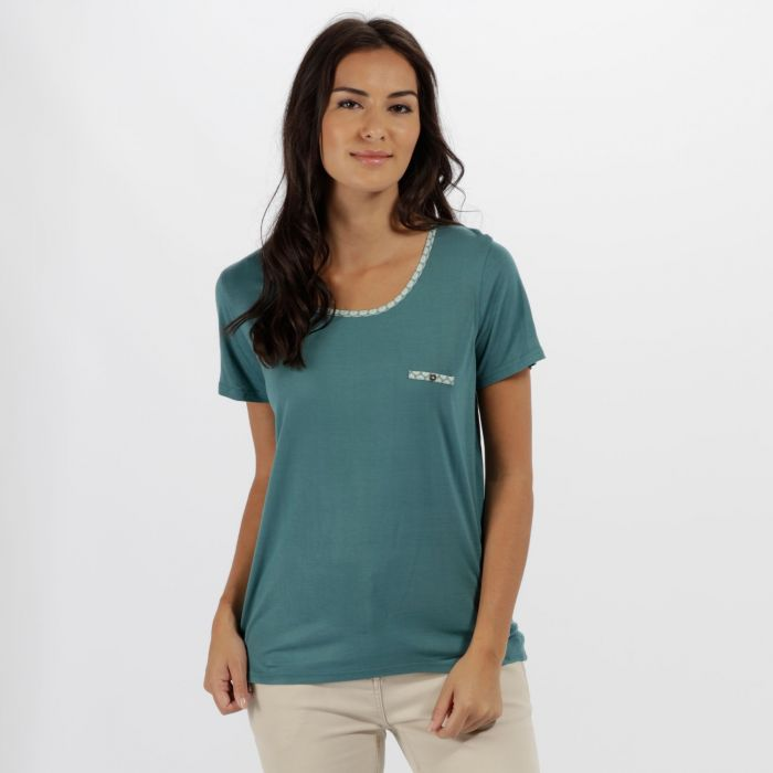 Alaina Coolweave Hybrid T-Shirt Jade Green