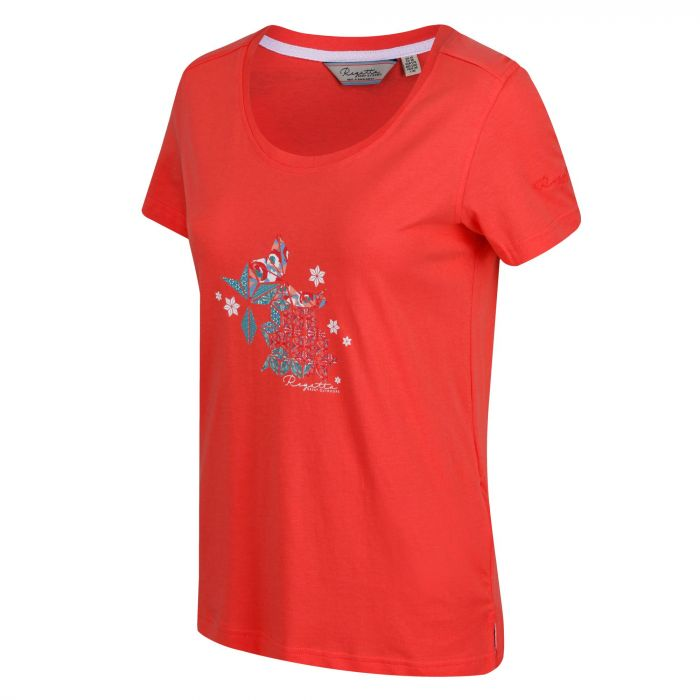 Filandra II Coolweave Cotton T-Shirt Neon Peach