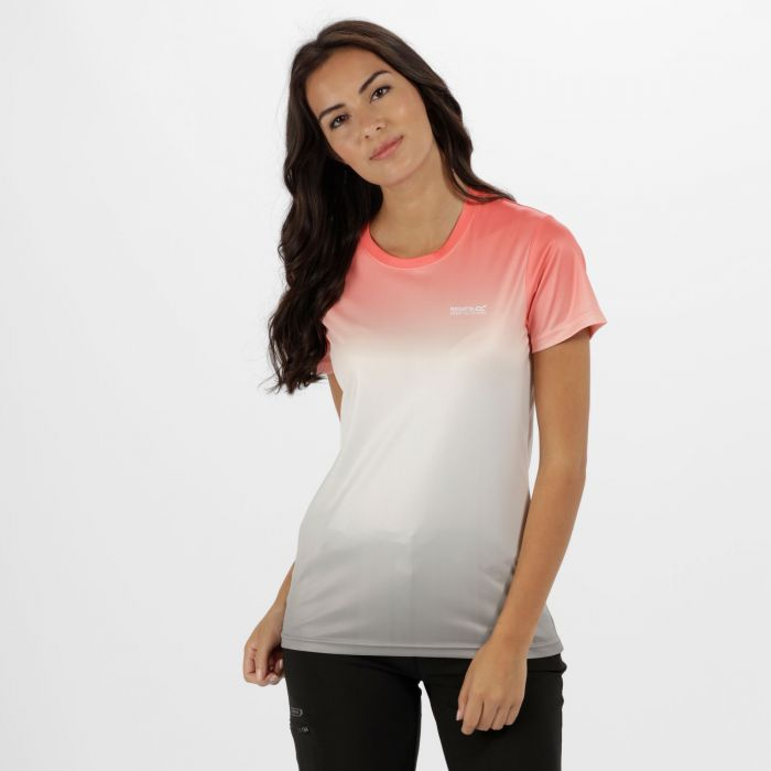 Women's Fingal III Quick Dry T-Shirt Fiery Coral Ombre