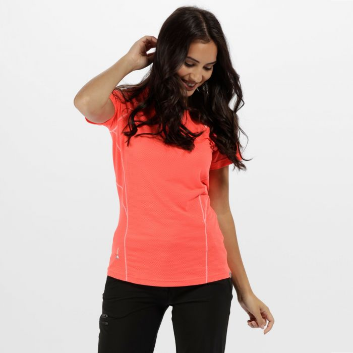 Women's Virda II Quick Dry T-Shirt Fiery Coral