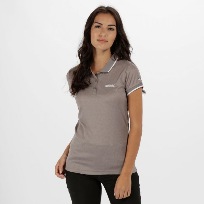 Women's Remex Poloyester Polo Shirt Grey