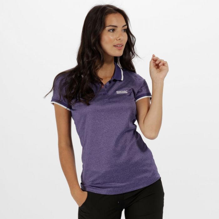 Women's Remex Poloyester Polo Shirt Elderberry