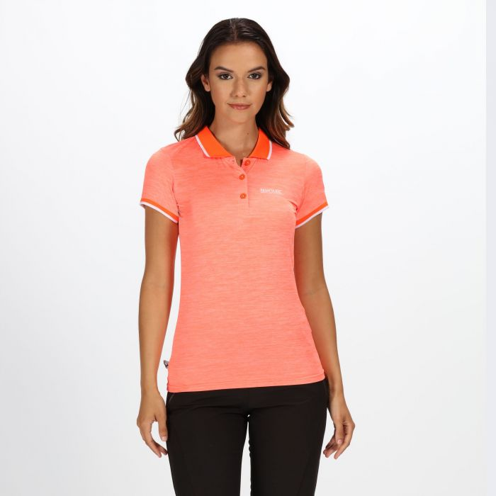 e5ae827e8ce0 Women's Remex II Polo Neck T-Shirt Shock Orange | Regatta | Regatta ...
