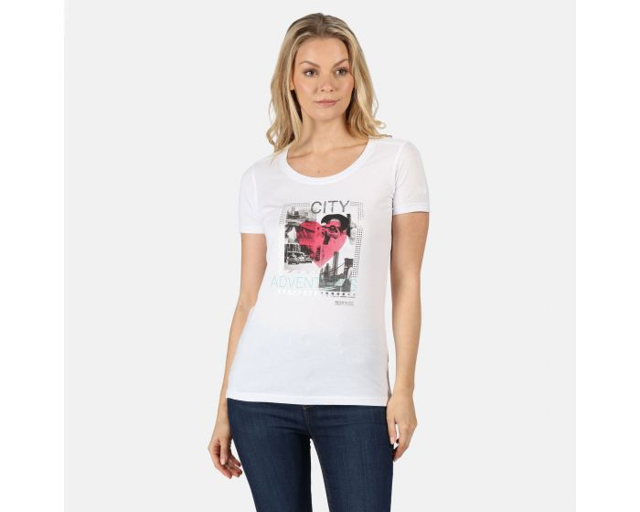 Regatta Women/'s Filandra IV Graphic T-Shirt White