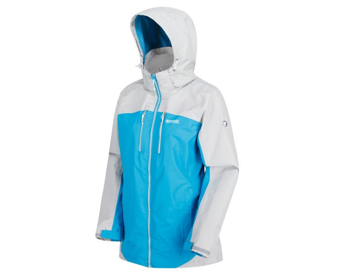 Womens Calderdale Ii Waterproof Shell Jacket Fluro Blue Light Steel