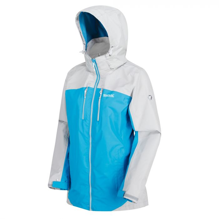 Women's Calderdale II Waterproof Shell Jacket Fluro Blue Light Steel