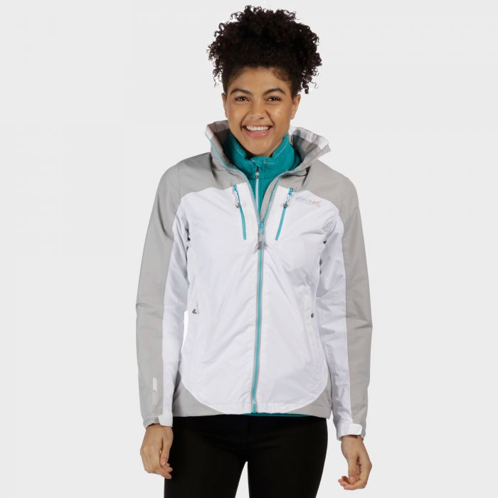 Women's Calderdale II Waterproof Shell Jacket White Light Steel