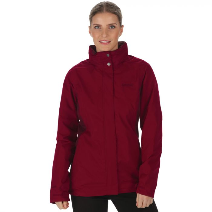 Daysha Waterproof Shell Jacket Dark Pimento Fig