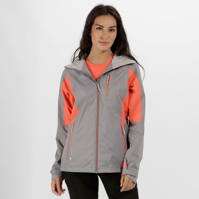 Cross Penine III Hybrid Waterproof Jacket Rock Grey Neon Peach