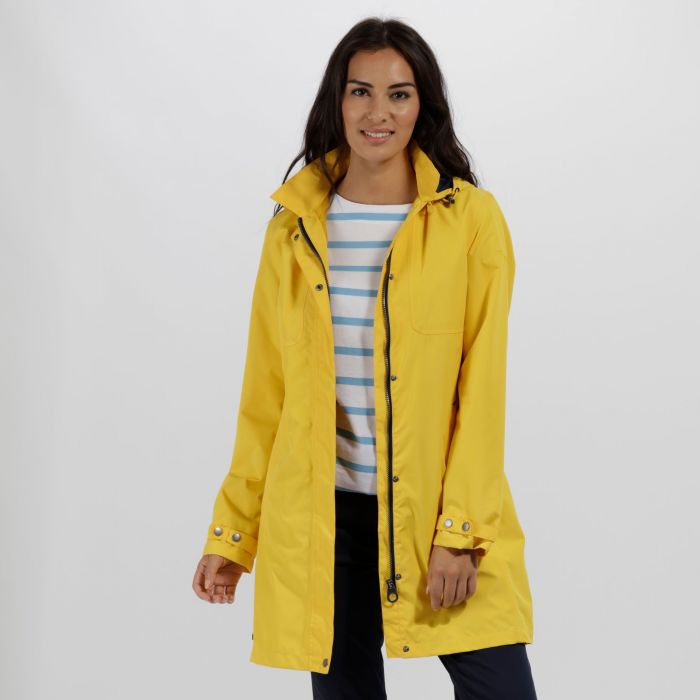Gracelynn Long Length Lightweight Waterproof Jacket Lifeguard Yellow