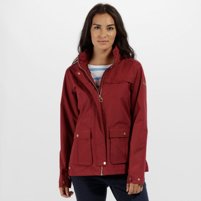 Landelina Lightweight Waterproof Jacket Black Cherry