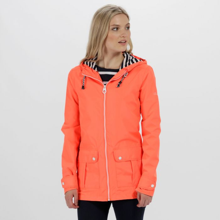 Bayeur II Lightweight Waterproof Hooded Jacket Fiery Coral