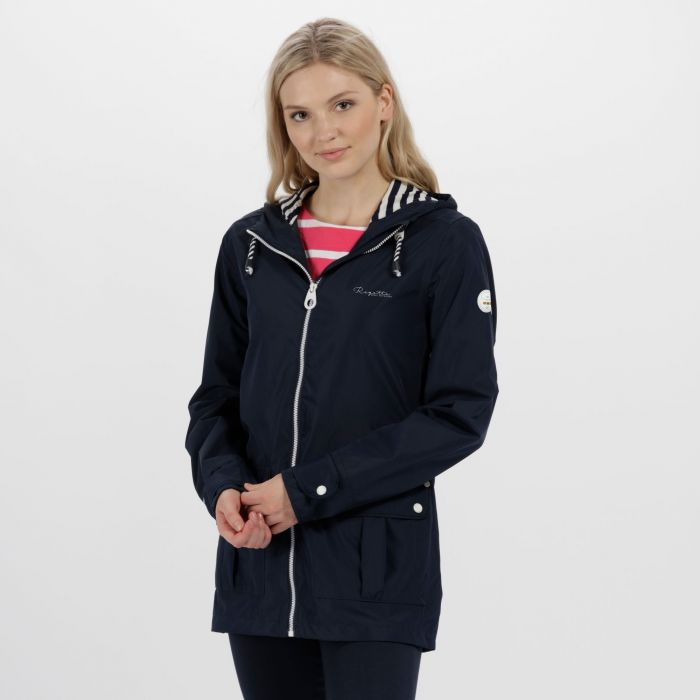 Bayeur II Lightweight Waterproof Hooded Jacket Navy