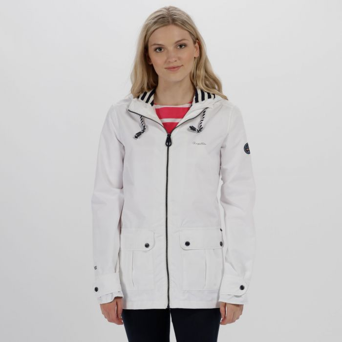 Bayeur II Lightweight Waterproof Hooded Jacket White