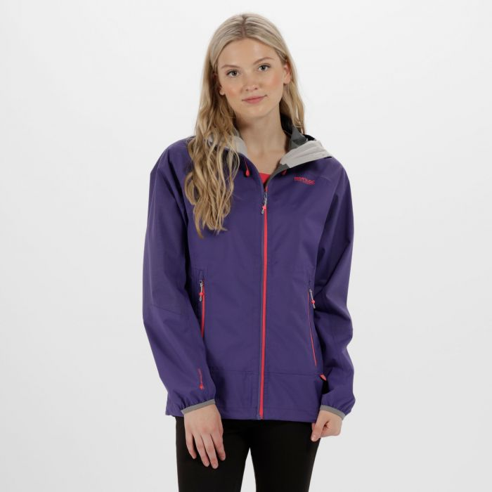 Women's Montegra Reflective Waterproof Jacket Elderberry